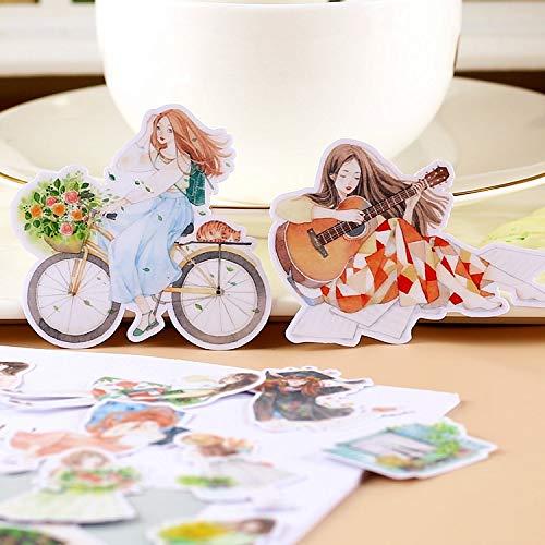 YRBB 14/22 / 23 stuks creatief schattige Kawaii zelf gemaakte mode retro meisje sticekrs scrapbooking stickers / decoratief / DIY handwerk fotoalbum