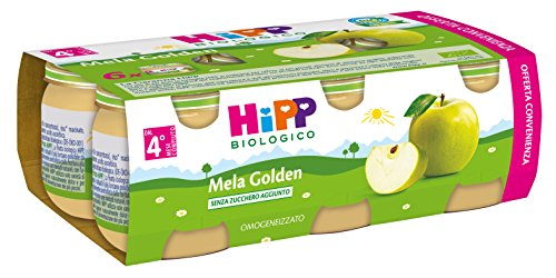 Hipp Omogeneizzato Multipack Mela Golden - Confezione 6 x 80 g
