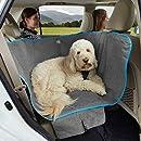 Kurgo K01783 Halbhängematten-Sitzbezug für Hunde, Haustier-Sitzbezug, Hunde-Auto-Hängematte - wasserdicht, Farbe - anthrazit meliert, 998 g