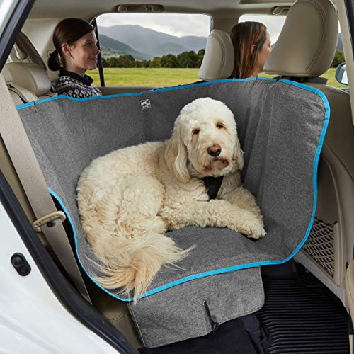"Kurgo Wander Dog Hammock Style Seat Cover for Pets, Pet Seat Cover, Dog Car Hammock, Water-Resistant, Khaki, 27.5"" Wide, Heather Charcoal Grey, Model:K01783"