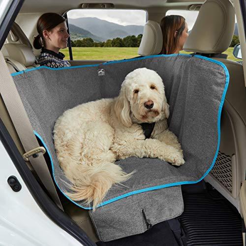 Kurgo Wander Dog Hammock Style Seat Cover for Pets, Pet Seat Cover, Dog Car Hammock, Water-Resistant, Khaki, 27.5' Wide, Heather Charcoal Grey, Model:K01783