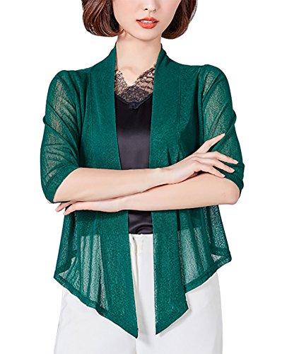 Mooncolour Newest Arrivals Bolero Shrugs for Women Cropped Cardigan 16 Dark Green
