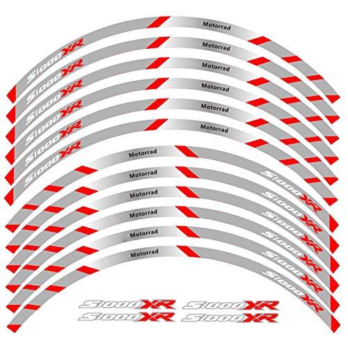 12 PCS Ajuste de la Rueda de la Rueda de la Rueda de la Rueda de la Rueda de la Raya Reflectante para BMW S1000XR (Color : 4)