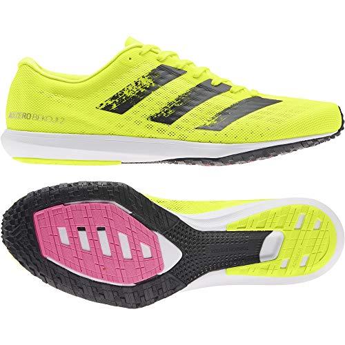 adidas Adizero BEKOJI 2 M, Scarpe da Corsa Uomo, Solar Yellow/Core Black/Ftwr White, 46 2/3 EU