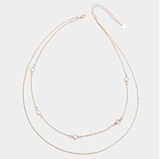 Aimys Fashion Simple Gold-Plated Double-Layer Short Necklace Clavicle Chain