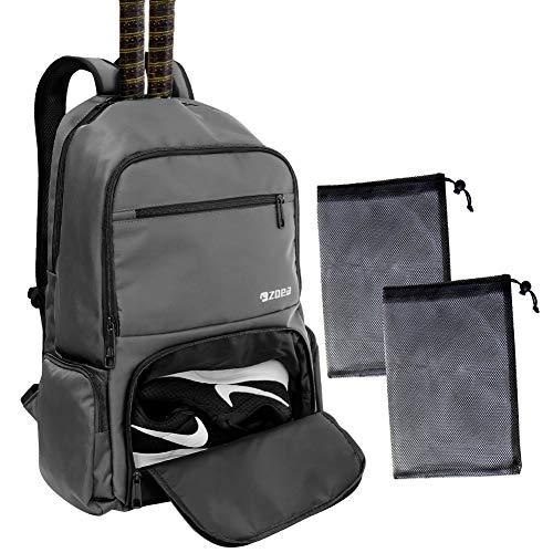 ZOEA Tennis Bag Tennis Backpack Pickleball Bag Tennis Bags for Men (Grey)