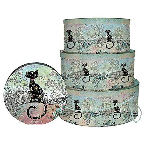 Bug Art Lot de 3 boîtes à chapeau en forme de chat