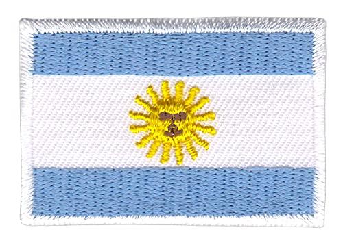 Flagge Argentinien Klein Aufnäher Bügelbild Applikation Flicken Patch Größe 4,7 x 3,3 cm