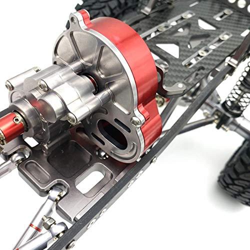 Caja de engranajes de caja de engranajes central de metal plástico confiable con cubierta de metal frontal para 1/10 RC Crawler Car