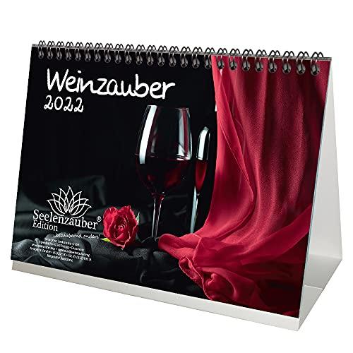 Weinzauber DIN A5 Tischkalender für 2022 Wein und Weinberge - Seelenzauber
