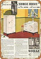 Norge冷蔵庫金属レトロな壁の装飾ティンサインバー、カフェ、家の装飾