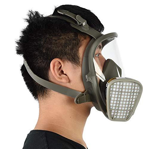 Respirador de cara completa, máscara de gas reutilizable Silicona sellada de plástico Árgaces de gafas para pintar desinfección de soldadura