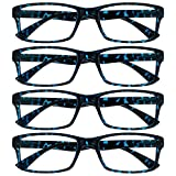 Uv Reader Gafas De Lectura Azul Carey Lectores Valor Pack 4 Hombres Mujeres Uvr4092Bl +1,50 4 Unidades 88 g