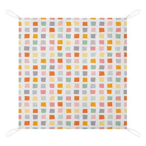 Buy Nomorer Geometric Outdoor Blanket, Squares with Soft Colors Hipster Culture Influenced Pattern R...