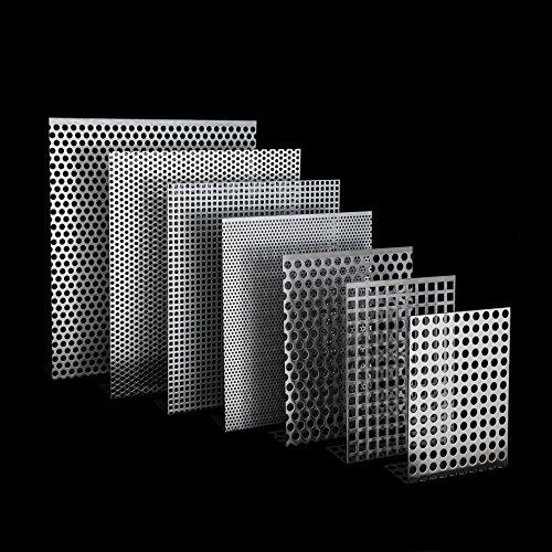 Lochbleche Alu, Stahl Verzinkt, Edelstahl 1,5mm Zuschnitt individuell auf Maß NEU günstig (RV8-12-Verzinkt-1000 mm x 400 mm)