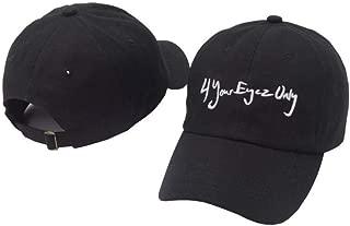 2019 New Jcole - 4 Your Eyez Only Embroidery Dad Hat Cap Fahion Men Women Black