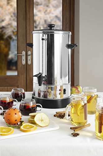 Signature Catering Urn, Hot Water, Tea, Coffe Dispenser, Stainless Steel, Auto and Reset Thermostat, Concealed Heating…