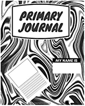 Primary Journal: School Pug, Bones and Paws K-2, Kindergarten Composition Book / Dashed Midline and Picture Space School Exercise Book