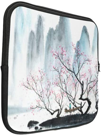 InterestPrint Gold Fish of Asian Ink and Wash Painting 13 13.3 Inch Water Resistant Neoprene Multi Functional Protective Laptop Notebook Sleeve Bag fit Woman Man