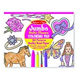 Melissa & Doug Jumbo Coloring Pad - Horses, Hearts, Flowers, and More