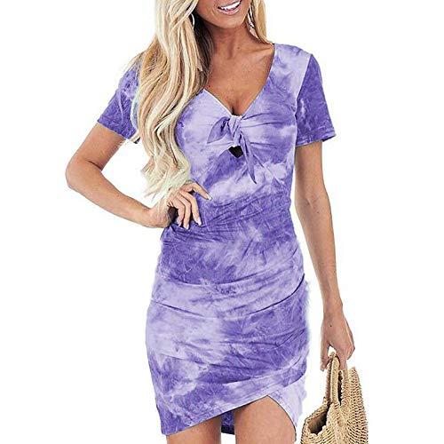 Dames Dames Jurk Onregelmatige V-hals tie-dye print jurk meerdere kleuren Sexy Borststrik