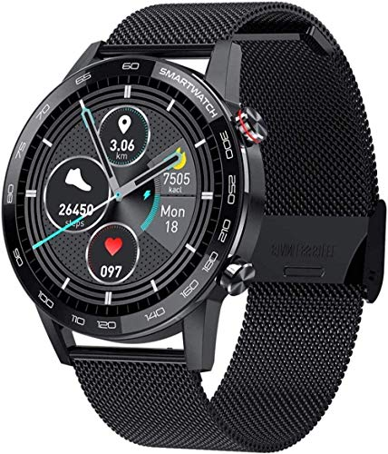 Reloj inteligente de pulsera con pantalla táctil con cámara Bluetooth impermeable Smartwatch Sports Fitness Tracker Sier Exquisite-Plata-Negro-Negro