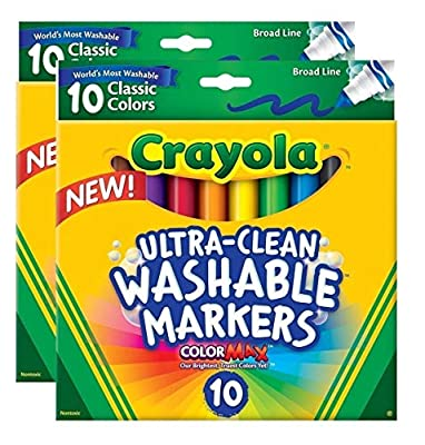 Crayola Ultraclean Broadline Classic Washable Markers from