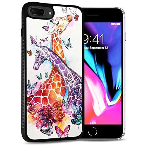HOT12437 Schutzhülle für iPhone 6 Plus, iPhone 6S Plus, langlebig, weiche Rückseite, Handyhülle, Giraffen-Design