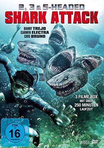 2, 3 & 5 Headed Shark Attack Box (3 DVD-Edition) [Alemania]