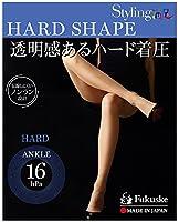 (フクスケ)fukuske STYLING 満足 HARD SHAPE 着圧 パンティ ストッキング (日本製 パンスト) M-L ブラック