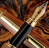 Dark Chocolate Fountain Pen. Beautiful Set with Extra Case and Refillable Converter. Works Perfectly...