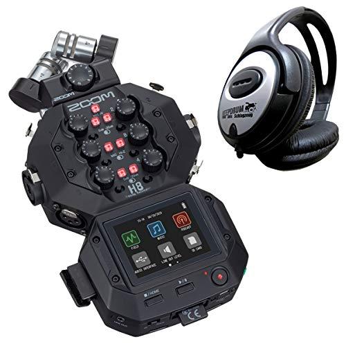 Zoom H8 mobiler Digital-Audio-Recorder + keepdrum Kopfhörer