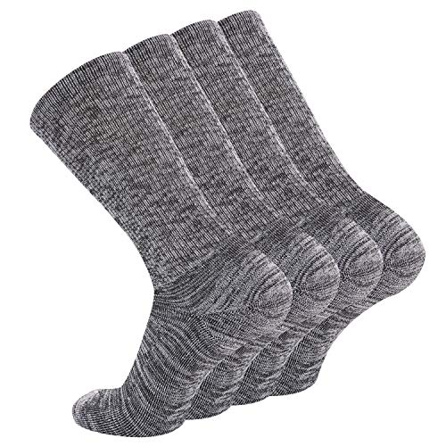 +MD Calcetines atléticos de bambú para hombre Calcetines de un cuarto para correr con amortiguación adicional con punta sin costuras