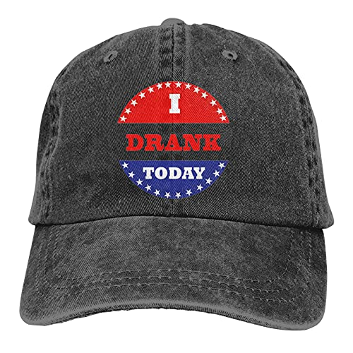 Voting - I Drank Today Unisex Adult Cap Adjustable Cowboys Hats Baseball Cap Black