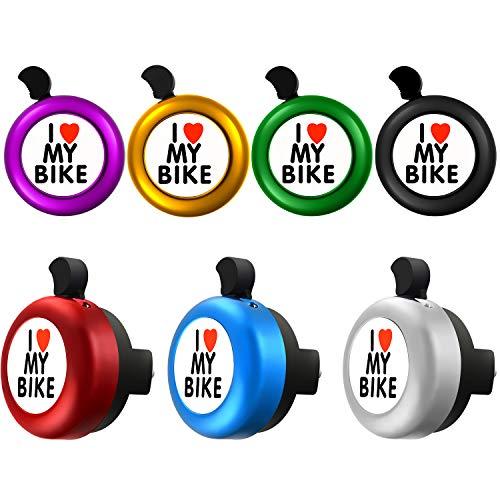 Boao 新 : 7 Stücke Ich Liebe Meine Fahrradklingel Fahrrad Ring Klingel für Kinder und Erwachsene