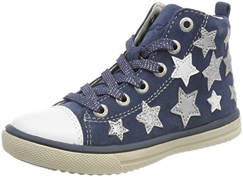 Lurchi Mädchen Starlet Stiefel, Blau (Jeans), 30 EU