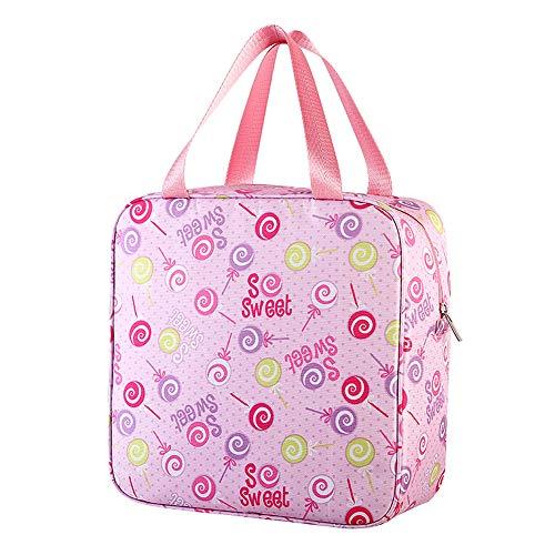 Finebo Sac Repas Lunch Bag Sac /à D/éjeuner Sac Fra/îcheur Portable Toile Isotherme Lunch Tote Tissu Oxford Sac /à bento 24 X 14 X 17cm Violet