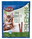 TRIXIE Snack PREMIO Quadro-Sticks, Ave Corral-Hígado, 5 × 5g, Gato