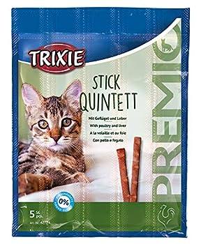 TRIXIE Premio Quadro-Sticks Snack Volaille/Foie pour Chat 4 x 5 g