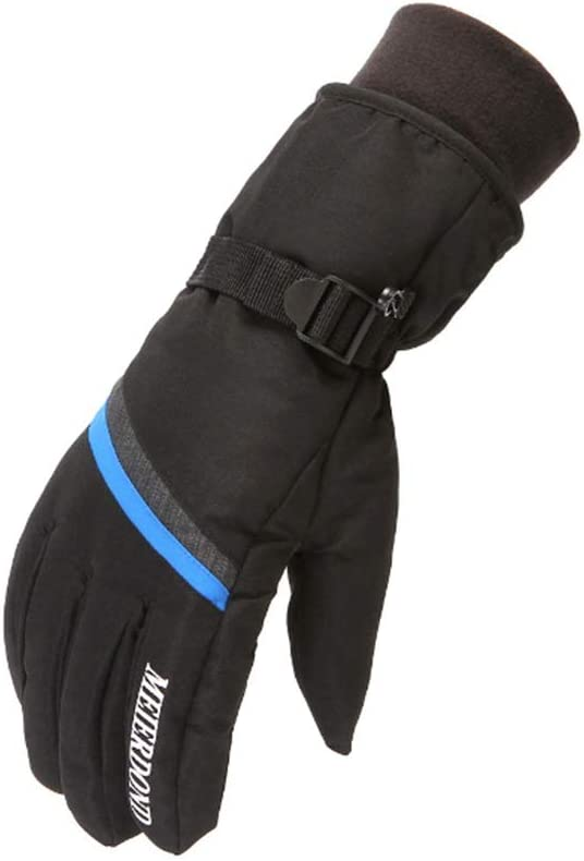 Lupovin-Keep Warm Men's and Women's Gloves, Raincoat Skiing, Outside Windproof, insensate Riding, Winter Quick Gloves Non-Slip (Color : Blue)