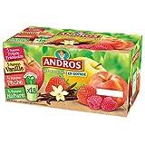 ANDROS Compotes de fruits en gourdes 4 variétés panachées 18x90g = 1,62 kg
