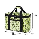 Lunch Bags Bolso del Almuerzo for Hombres y Mujeres de Picnic Grande Cooler Bag Correa de Hombro Ajustable con Aislamiento del Bolso del Almuerzo de Oficina/Escuela/Picnic (Color : Green, Size : L)