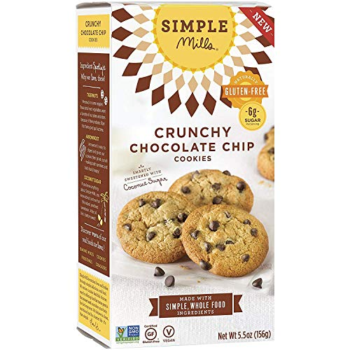 Simple Mills GlutenFree Crunchy Cookies Chocolate Chip 55 oz PACKAGING MAY VARY