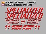 Ecoshirt 77-W2S4-9VJA Pegatinas Fsr Sworks S-Works Frame Set Bikes F156 Stickers Aufkleber Decals Autocollants Adesivi MTB BTT, Rojo