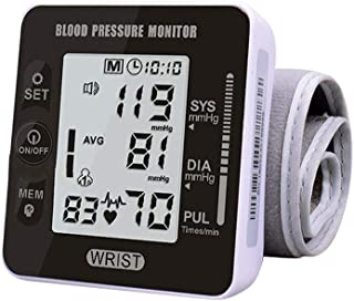 Blood Pressure Monitor Automatic Wrist Sphygmomanometer Accurate Voice Broadcast BP Monitor Portable Large LCD Screen 2 * ...
