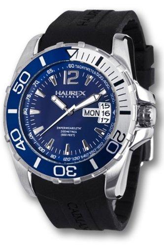 HAUREX Italy Caimano Divers Blue Dial Watch #1A354UBB- Orologio da uomo