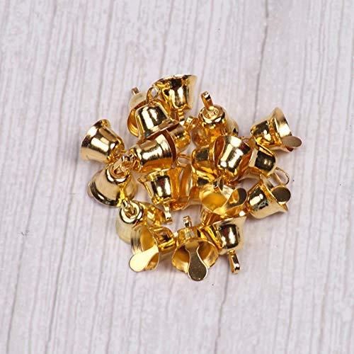 Piore Kleine Mini Jingle Bells Goud Zilver Huisdier Opknoping Metalen Bel Bruiloft Kerstdecoratie Accessoires Klokken voor Ambachten, zilver 10st, 10mm