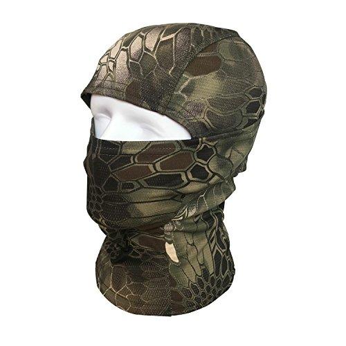 Pasamontañas Máscara QMFIVE Camuflage Cara Completa Militar Táctico Capucha De Ninja Caza Ciclismo Máscara Camuflaje