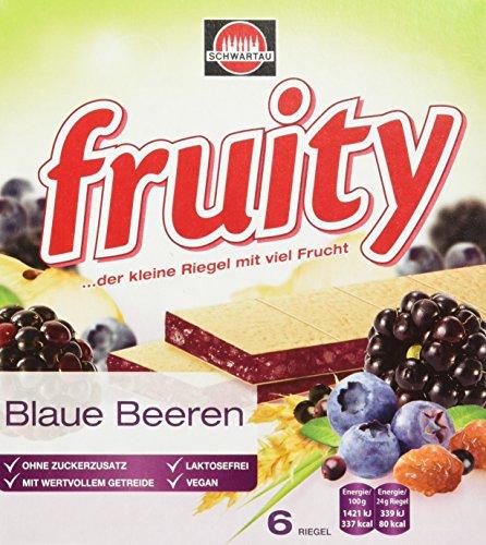 Schwartau fruity Blaue Multifrucht, Fruchtriegel mit Oblate, 8er Pack (8 x 144 g)