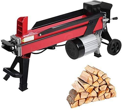 Elektrischer Holzspalter 5 Tonnen Spaltkraft 1500 W, Elektromotor, kompakter Hydraulikspalter